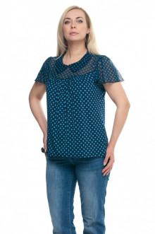 """Блуза """"Олси"""" 1610014/1 ОЛСИ (Горох/синий)"""