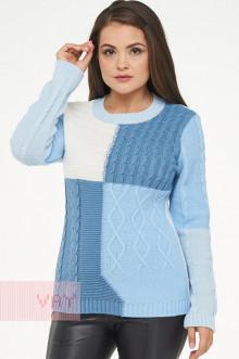 Джемпер женский 182-4732 Фемина (Светло-голубой/светлый деним/молоко/жемчужно-голубой)