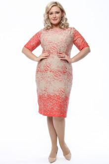 Платье 1063-234 Грация Стиля (Коралловый)