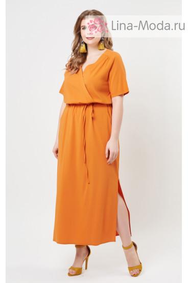 """Платье """"Лина"""" 5278 (Оранжевый)"""