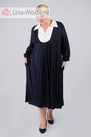 """Платье """"Артесса"""" PP05603DBL04 (Темно-синий)"""