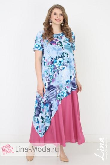 """Платье """"Мирабелла"""" Лина (Голубой)"""